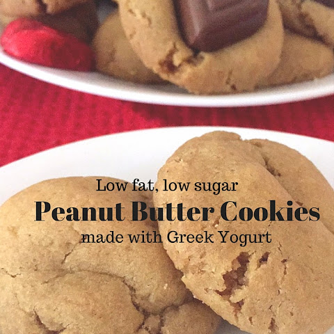 Peanut Butter Cookies {Made with Greek Yogurt}