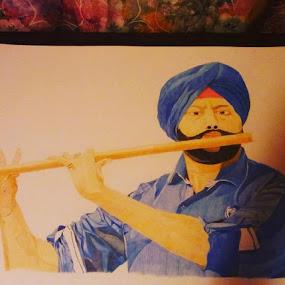 Indian man by Reagan Muriuki - Drawing All Drawing