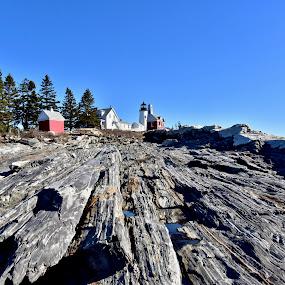 Pemaquid Rocks by Joe Fazio - Landscapes Mountains & Hills ( maine, rocks, ocean, lobster, pemaquid, sea )