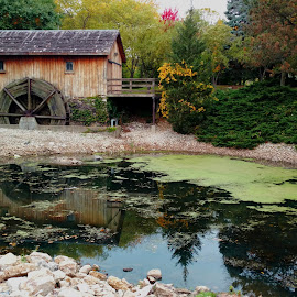 Saw Mill Reflections by Nancy Tonkin - Buildings & Architecture Public & Historical