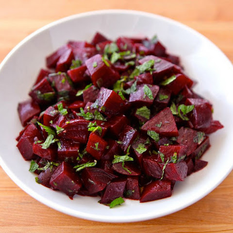 Roasted Beet Salad with Mint