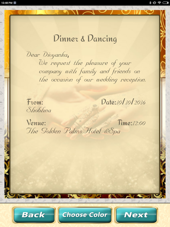 Wedding Invitation Cards Maker Marriage Card App Screenshot