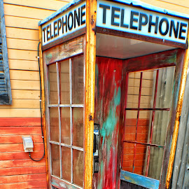 Wooden Telephone Booth by Kayla Smith - Artistic Objects Other Objects (  )