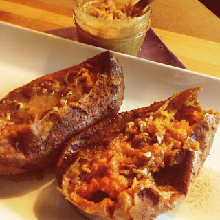 BBQ Spice Rubbed Sweet Potatoes with Honey Pecan Ghee