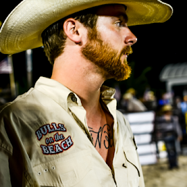 cowboy watching by Diane Davis - Sports & Fitness Rodeo/Bull Riding ( cowboy )