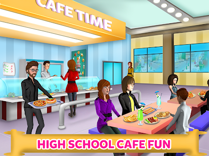 High School Cafe Cashier Girl - Kids Game Screenshots