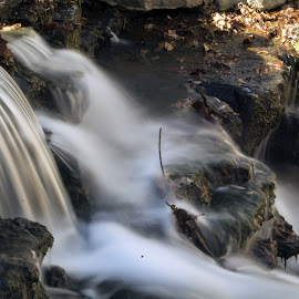 Elegant Waterfall  by Jason Jeep Rutter - Landscapes Waterscapes ( waterfall )