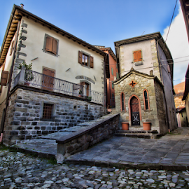 Fiumalbo (Modena, Italy) by Gianluca Presto - Buildings & Architecture Homes ( home, old, houses, ancient, village, church, historic district, house, stones, homes, historic )