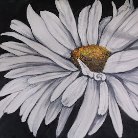 Shasta Daisy by Rhonda Lee - Painting All Painting ( macro, unique, art, rokinronda, daisy, pretty, painting, flower,  )