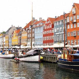 Copenhagen by Nico Kranenburg - City,  Street & Park  Street Scenes ( copenhagen, danmark, boats )