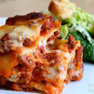 Italian Lasagna with Meat Sauce