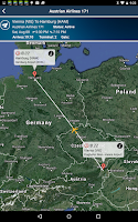 Screenshot of Hamburg Airport+Flight Tracker