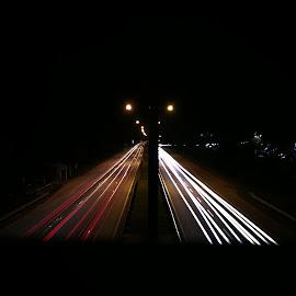 Car Light Trails by Mohamad Asyraf Mohd Zaini - City,  Street & Park  Night