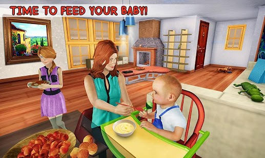 Virtual Family New Baby Single Mom Adventure for pc