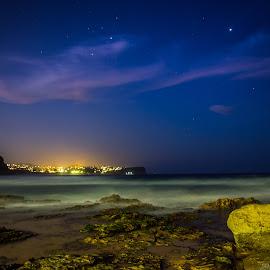 Mystic Cloud by Jeremy Herbert - Landscapes Beaches ( seascape, skywandering, sydney, warriewoodbeach, skyscape, nightscape )