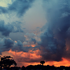 Firestorm Skies by Kathleen Preston - Landscapes Cloud Formations ( clouds, sunset, cloudscape, day, landscape, storm )