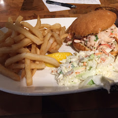 Lobster roll with a GF bun. Very soft and flakey! Delicious!