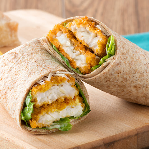 Fish Caesar Salad Wrap