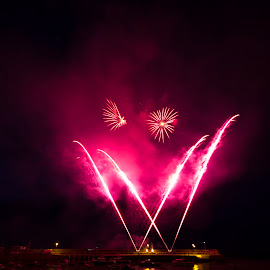 by Paul Scullion - Abstract Fire & Fireworks ( water, reflection, event, fireworks, paul scullion photography, rnli )