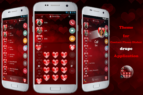 Heart Valentine Phone Dialer - screenshot