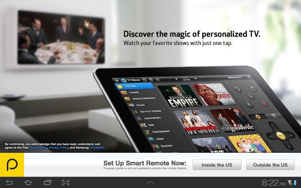 Peel Smart Remote (Galaxy Tab) screenshots