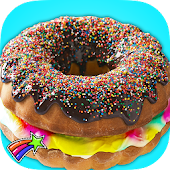 Game Rainbow Donut Cake Maker Chef APK for Windows Phone