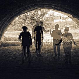 Siluete by Mario Denić - Digital Art People ( fortress, shadow, digital )