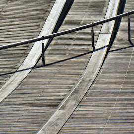 Boardwalk by Tim Day - Abstract Patterns ( wood sidewalk, pattern, toronto, boardwalk, sidewalk )
