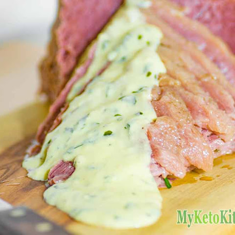 Corned Beef with Low Carb Mustard Cream Sauce