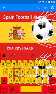 Spain Football Eva Keyboard - screenshot