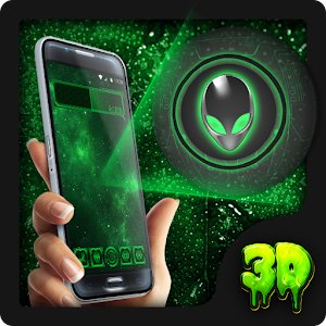 Alien 3D Theme Green