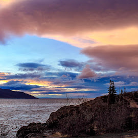 Pink Umbrella by Patricia Phillips - Landscapes Travel ( alaska clouds sunsets )