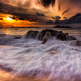 Flood in sunset by Dany Fachry - Landscapes Beaches