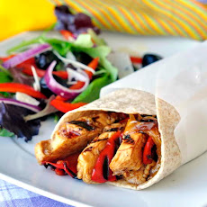 Orange Balsamic Grilled Chicken Wraps