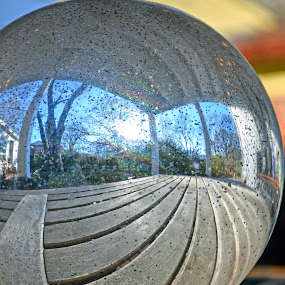 Mirrorball Mine by KM H - Artistic Objects Glass