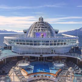 Upper Deck View by Jim Downey - Transportation Boats ( fredrick sound, facility, ship, alaskan passage, cruise )