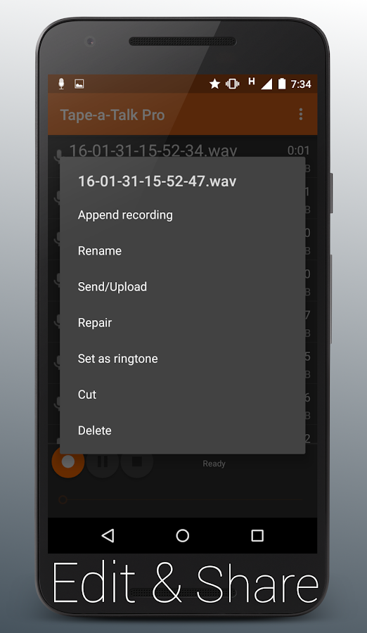 Tape-a-Talk Pro Voice Recorder Screenshot 6