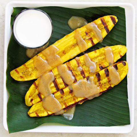 Grilled Plantain with Coconut Cream Caramel