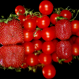 strawberry with tomatoes by LADOCKi Elvira - Food & Drink Fruits & Vegetables ( vegetables )