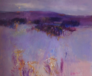 ​The Heather Hills Oil 30x30""