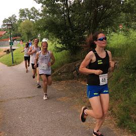 City Running in Zwettl 3 by Franz  Adolf - Sports & Fitness Running ( girls, sports, running )