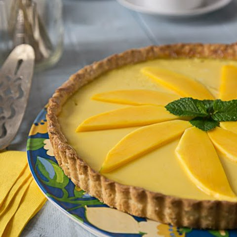 Tropical Mango, Coconut, Lime Tart