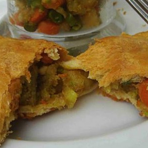 Indian Crescent Samosa Sandwiches