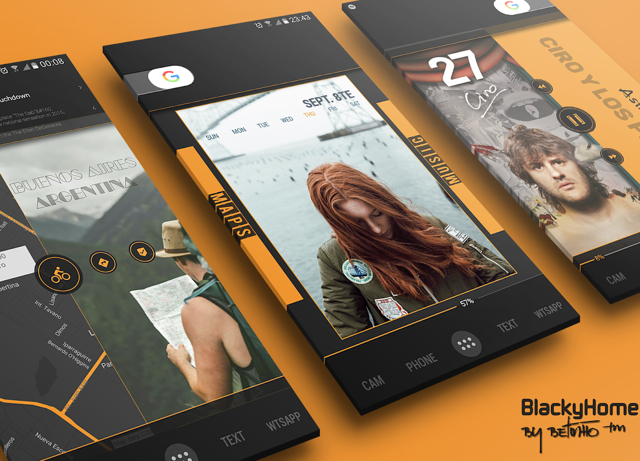BlackyHome for Klwp Screenshot