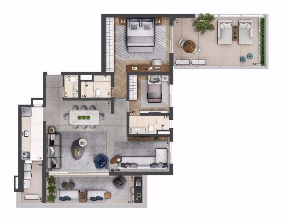 Planta Opção - 140 m²