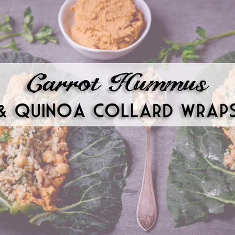 Collard Wraps with Carrot Hummus and Quinoa