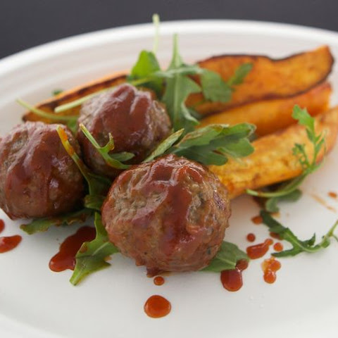 BBQ Bison Meatballs and Paleo BBQ Sauce
