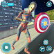 Flying Superhero Robot Captain Girl:US Lady Fight