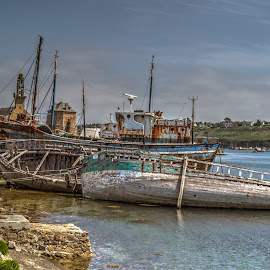Old boats in Camaret by Hraunið      Hekla - Transportation Boats ( old boats in camaret, camaretfinistere, france, brittany )