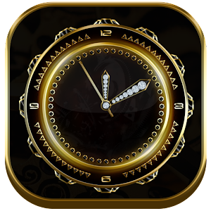 Download Royal Gold Clock Live Wallpaper for Windows Phone